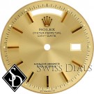 Men's Rolex Day-Date Champagne Stick Marker T Swiss T Dial for Yellow Gold