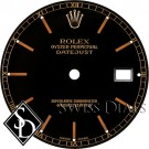 Men's Rolex Datejust Black Stick Marker Swiss Made Dial Two-tone