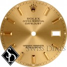 Men's Rolex Datejust Champagne Stick Marker Dial Two-Tone