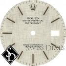Men's Rolex Datejust Silver Linen Stick Marker T Swiss T Dial SS