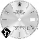 Men's Rolex Datejust Silver Stick Marker T Swiss T Dial SS