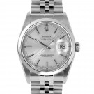 Men's  Rolex Datejust Stainless Steel Silver Stick Dial Smooth Bezel Jubilee Band