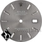 Men's Rolex Datejust Light Slate Tapestry Stick Marker Swiss Made Dial SS