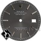 Men's Rolex Datejust Dark Slate Tapestry Stick Marker Roman Minute Tracks T Swiss Made T Dial SS