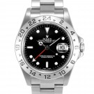 Men's Rolex Explorer II Stainless Steel Black Index Dial 24hr Bezel Oyster Band 40mm
