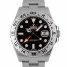 Men's Rolex Explorer II Stainless Steel Black Index Dial 24hr Bezel Oyster Band 42mm