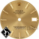 Midsize Rolex Datejust Champagne Stick Marker Dial T Swiss Made T Two-tone