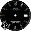 Men's Rolex Datejust Non-quick Black Stick Dial Two-tone