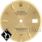 Men's Rolex Datejust Non-quick Champagne Stick Hour Marker Dial Two-tone