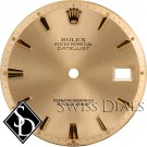 Men's Rolex Datejust Non-quick Champagne Stick Hour Marker Swiss Dial Two-Tone