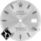 Men's Rolex Datejust Non-quick Silver Stick Hour Marker Dial Stainless Steel