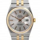 Men's  Rolex OysterQuartz Datejust Steel and Gold Silver Stick Dial Fluted Bezel Quartz Band